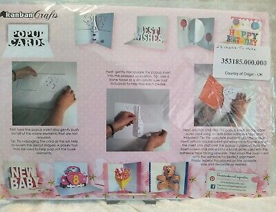 £9.99 • Buy Craft Clearout KANBAN POP UP Cards Kit  Makes 23 Cards. 8 X Styles.