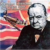 £4.99 • Buy Winston Churchill - His Finest Hour The Great Wartime Speeches Audio CD