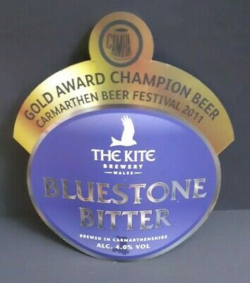 £8.99 • Buy The Kite Brewery Bluestone Bitter Beer Pump Clip Front Badge Man Cave Pub Clip