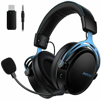 AU75.99 • Buy Mpow Air 2.4G Wireless Gaming Headset Headphone With Mic For PC Laptop Computer