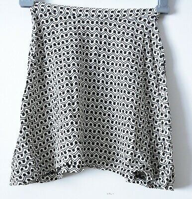 AU24 • Buy Tigerlily Skirt Womens Size 6 Black White Exposed Zip A Line