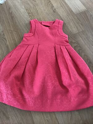 £3 • Buy Mayoral Spanish Designer Girls Age 4y Coral Colour Dress With Bow