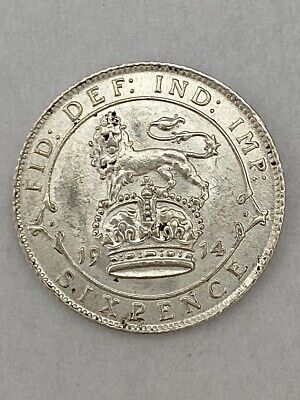 £0.99 • Buy George V Sterling Silver Sixpence 1914