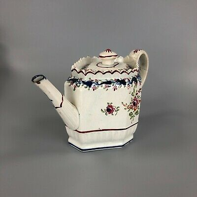 £135 • Buy An.octagonal-shaped Staffordshire Pearlware Teapot Circa 1795-1805