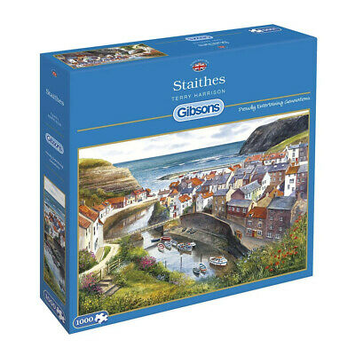 £15.99 • Buy Staithes 1000 Piece Gibsons Jigsaw, Terry Harrison, Fishing, Harbours G713