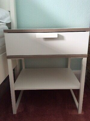 """£35 • Buy 2 Trysil Ikea White Bedside Tables H21""""W17 1/2""""D15 1/2"""" Pick Up Horncastle LN9"""