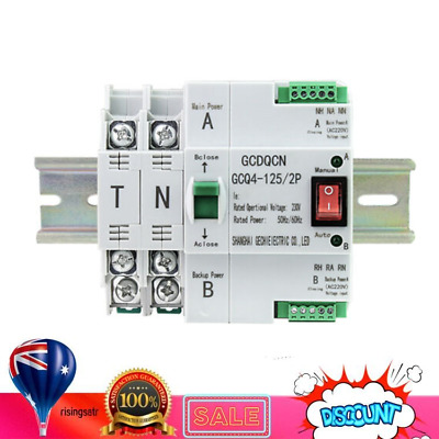£37.01 • Buy Automatic Transfer Switch 2 Way Safe Controller Dual Power 2P 63A 220V