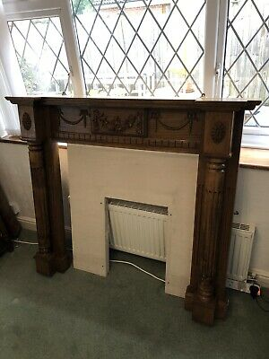 £24 • Buy Solid Carved Golden / Medium Oak Fire Surround / Fireplace Surround