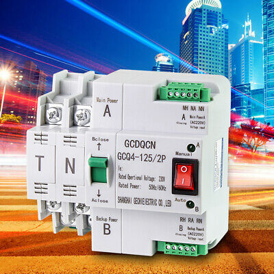 £31.52 • Buy Automatic Transfer Switch 2 Way Safe Controller Dual Power 2P 63A 220V UK