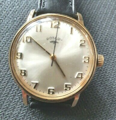£10 • Buy Elegant Vintage Rotary Gents Gold Coloured Wrist Watch