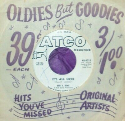 £10 • Buy  Ben E. King , It's All Over / Let The Water Run , Atco , W.L.Promo ,,} )));0>
