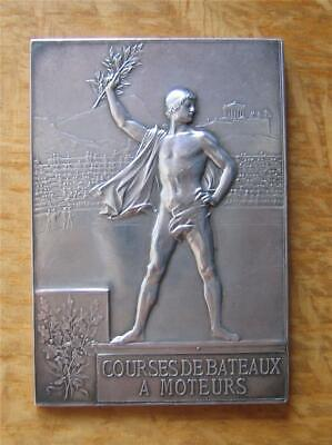 £1449.43 • Buy Silver Winner's Medal For Motorboat Racing 1900 Paris Expo / Olympic Games Rare