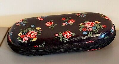 £5.50 • Buy Cath Kidston Navy Blue Floral Glasses Case - Hard Shell - Zipped