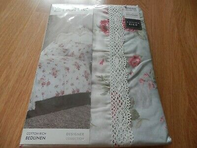 £12.99 • Buy Catherine Lansfield Cotton Rich King Size Floral Annabella Duvet Set. New