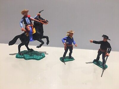 £39.99 • Buy Timpo Vintage Cowboy Bundle, One Mounted & Two Standing, All With Weapons