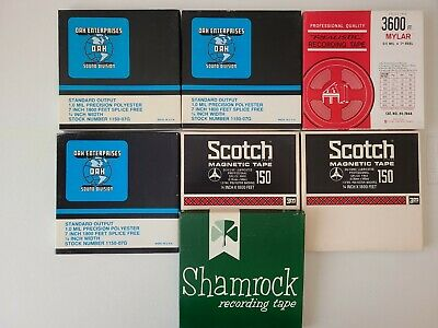 £16.82 • Buy  Reel To Reel Tape 7  X 1/4   Plastic Reel Empty With Boxes Lot Of 7