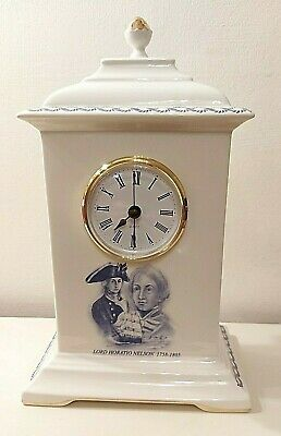 £24.99 • Buy Admiral Lord Horatio Nelson Limited Edition Bone China Clock - Signed To Base