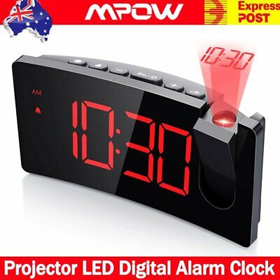 AU35.69 • Buy Smart Digital LED Projection Alarm Clock Time USB Charging Projector LCD Display