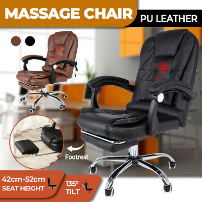 AU149.95 • Buy Massage Office Study Chair Executive Gaming Racing Seat PU Leather Footrest USB