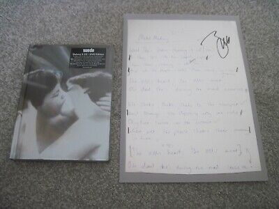 £7.50 • Buy SUEDE SUEDE 25th Anniv. DELUXE 4 X CD & DVD BRETT ANDERSON SIGNED PRINT  Sealed