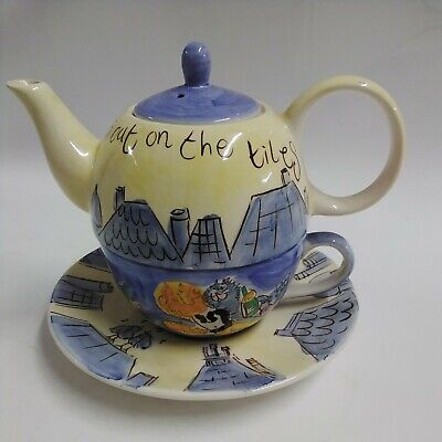 £4.99 • Buy Beth For Whittard Of Chelsea Cats Out On The Tiles TEA FOR ONE SET