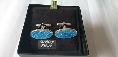 £20 • Buy Sterling Silver Paul Smith Blue Guilloche Cuff Links