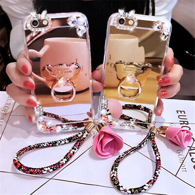 AU14.30 • Buy For IPhone 13 Pro Max 12 11 XS XR 8 7 Luxury Diamond Mirror Case With 360 Ring