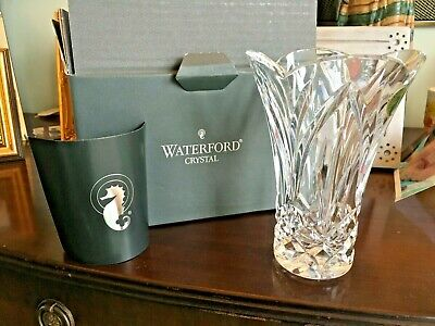 """£40 • Buy 6"""" Waterford Crystal Scalloped Mourne Flower Elegant Vase Seahorse  Approx 20xm"""