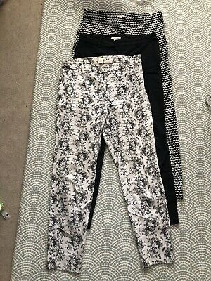 £4.10 • Buy H&M Cropped Slim Trouser Bundle, Size 12, Great Condition