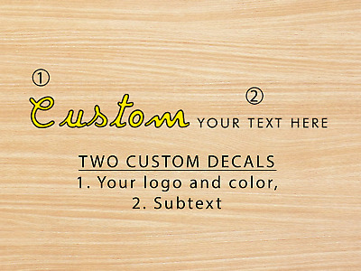 £10.17 • Buy TWO PREMIUM CUSTOM Guitar Headstock Waterslide Decals For Electric Or Bass