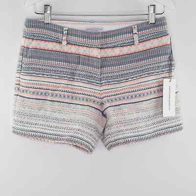£14.22 • Buy NEW $68 KATHERINE BARCLAY Montreal Aztec Striped Tweed Woven Shorts Size 2