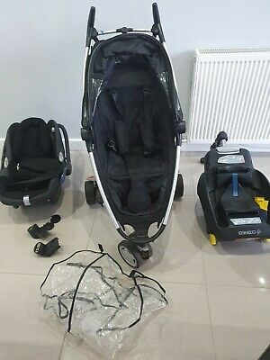 £50 • Buy MaxiCosi Travel System With Infant Car Seat Isofix Base And Quinny Zapp Stroller