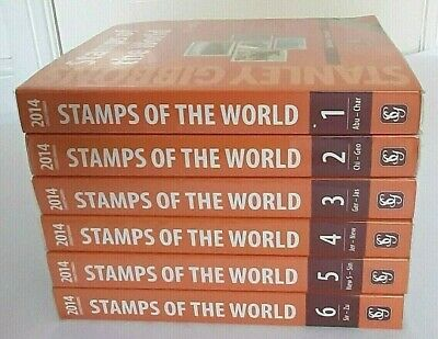 £110 • Buy 2014 Stanley Gibbons Stamps Of The World Full Set 6 Catalogues A-z & Dust Covers