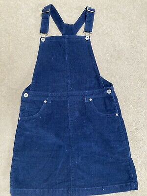 £3 • Buy Girls Courdroy Pinafore Dress Dungaree Cord Girls Dress Blue Zoo Age 14