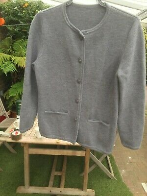 £12 • Buy Cotswold Collection Ladies Grey Cardigan 100%  Merino Wool Size M