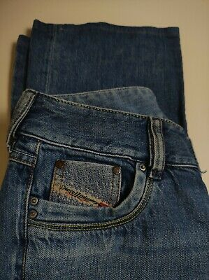 £24.99 • Buy Women's Diesel Blue Flared Jeans Made In Italy Size 28 Good Condition