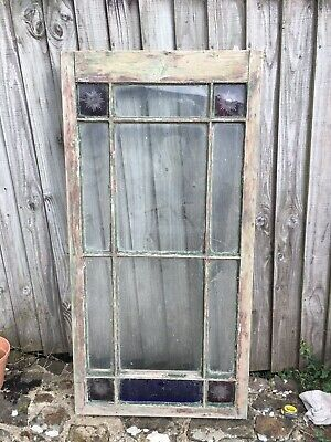 £65.98 • Buy ANTIQUE RECLAIMED STAINED GLASS WINDOW From Devon Country House