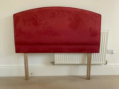 £20 • Buy Double Bed Headboard Deep Pink Suede Effect In Excellent Condition