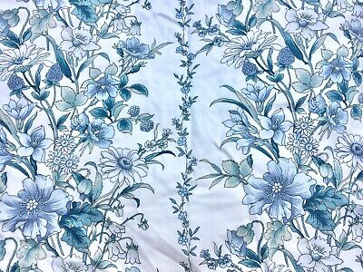 """£4.99 • Buy Large Wide & Lined Vintage Curtains In Montgomery Floral Fabric 86Wx50L"""""""