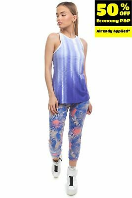 £0.99 • Buy NEW BALANCE Vest Top Size XS DRY FRESH FITTED Built In Bra Printed Mesh Back