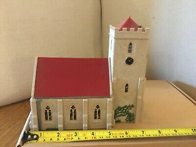 £2.99 • Buy Oo Gauge Model Railway Buildings - Stone Church With Stained Glass Windows