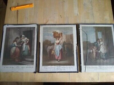 £17.95 • Buy 3 CRIES Of LONDON Prints From 1795 Painted By F. Wheatley R. A New Mackerel ++
