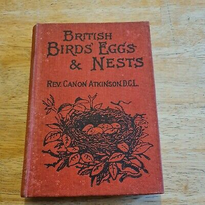 £4.95 • Buy British Bird Eggs And Nests By Rev Canon Atkinson Old Book