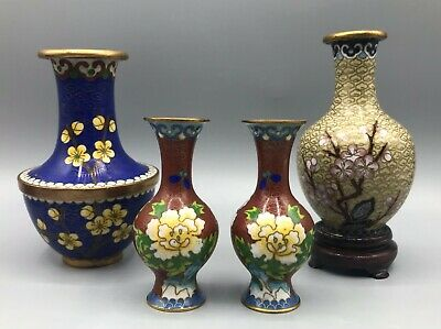 £19.99 • Buy Four Chinese Cloisonne Vases