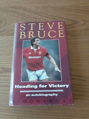 £8 • Buy Heading For Victory, Steve Bruce Autobiography, Football Book (signed)