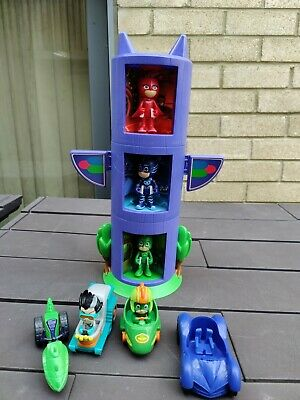 £16 • Buy PJ Masks Transforming  Tower  With 3 Figures And 4  Vehicles