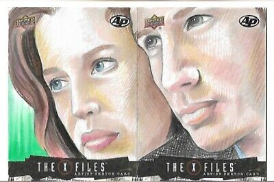£89.99 • Buy Upper Deck 2018 The X Files Artist Sketch Cards Mulder And Scully