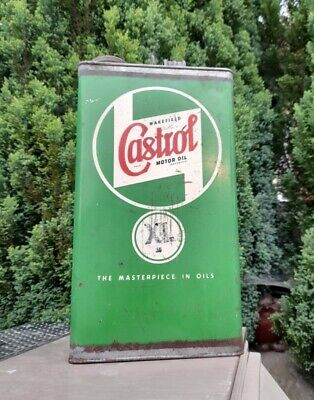 £49.95 • Buy Vintage Castrol XL Advertising One Gallon Motor Oil Can Wakefileld