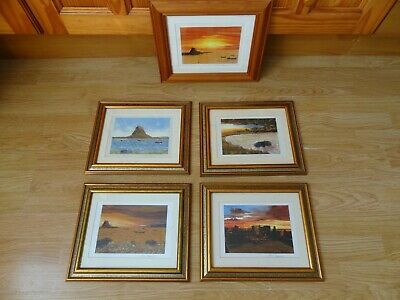 £4.99 • Buy 5 X Framed Picture Prints LINDISFARNE & WHITBY ABBEY 11 X 13 Ins Max