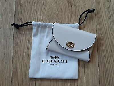 £10 • Buy Brand New Official Coach Turnlock Card Holder White/Ivory Excellent Condition